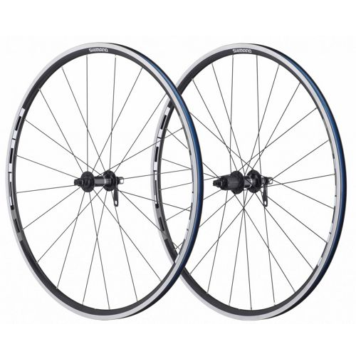 Black Red Shimano R501 700C Road Front /& Rear Wheelset