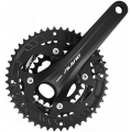 Shimano Alivio T4060 9 Speed Triple Chainset - Black