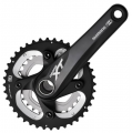 Shimano XT M785 10 Speed Double Chainset Black