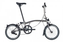 Brompton M6L Nickel Superlight 2017 Folding Bike