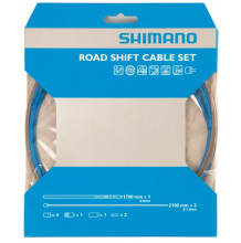Shimano Road PTFE Gear Cable Set - Blue